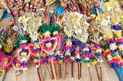 Dried Flowers Palms Royalty Free Stock Photo