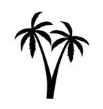 Palmsilhouet - vectorillustratie Stock Fotografie