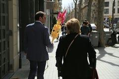 Palmsonntag in Barcelona, Spanien Stockfotografie