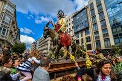 Palmsonntag in Vigo - Galizien, Spanien Lizenzfreie Stockfotos