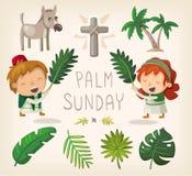 Palmsonntags-Gestaltungselemente