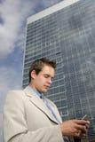 palmtop young biznesmena zdjęcia royalty free