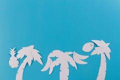 Palmträd med kopieringsutrymme royaltyfri bild