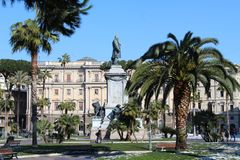 Palmträdet parkerar i Rome Arkivfoton