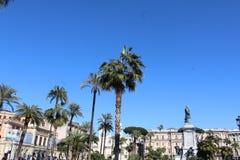 Palmträdet parkerar i Rome royaltyfria foton