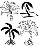 Palmträduppsättning Arkivbilder