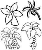 Palmträduppsättning Fotografering för Bildbyråer