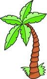 palmträdvektor Arkivfoton