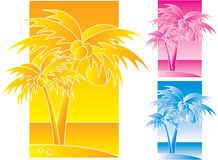 Palmtrees design Stock Photos