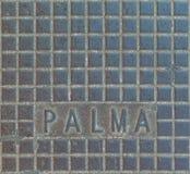 Palmy de Mallorca ściekowy system zdjęcia royalty free