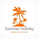 Palmy pomarańczowe Obrazy Stock