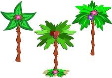 palmy trzy ilustracja wektor