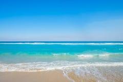 Palmy zachodni Plaża Fotografia Royalty Free