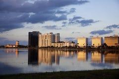 Palmy zachodni Plaża Zdjęcia Stock