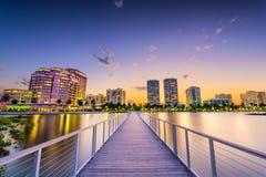 Palmy zachodni Plaża Zdjęcie Royalty Free