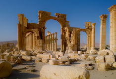 Palmyra. The called Hercules Gate in the historical Town of Palmyra Syria Royalty Free Stock Image
