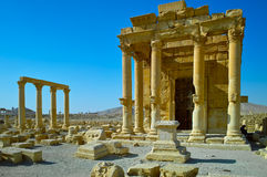 Palmyra. A Temple in the Ruins of Palmyra in Syria 2010 Royalty Free Stock Images