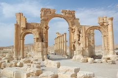 Syria. City of Palmyra -  old city in Syrian desert Stock Images
