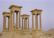 Palmyra desert ruins syria Stock Photos
