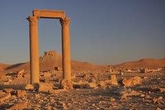 Palmyra e castello Fotografia Stock