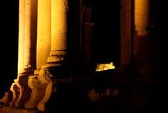 Palmyra en het Kasteel van Qala'At Ibn Maan Stock Foto