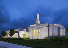 Palmyra New York Temple. Located near The Sacred Grove, site of The First Vision by Joseph Smith in 1820, an event sacred to members of the LDS Church (Mormon Stock Image