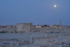 Palmyra during night Stock Images