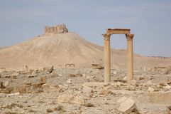 Palmyra -  ruins of the 2nd century AD Royalty Free Stock Image