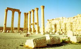 Palmyra ruins in Syria Stock Photos
