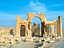 Palmyra Syria. Ancient Roman time town in Palmyra (Tadmor), Syria. Greco-Roman & Persian Period. Temple of Bel. Detail royalty free stock photo