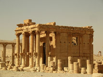 Palmyra, Syria. Ruins of the ancient caravan city of Palmyra in Syria Royalty Free Stock Photography