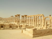 Palmyra, Syria. Ruins of the ancient caravan city of Palmyra in Syria Stock Image