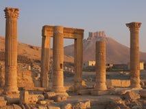 Palmyra, Syria. Ancient ruins in desert, Syria Stock Photo