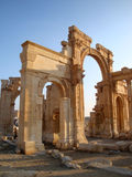 Palmyra, Syria. The now-destroyed by ISIS ruins of Palmyra, Syria. Palmyra was an essential part of the Silk Road route linking China and India to Europe. Early stock photo