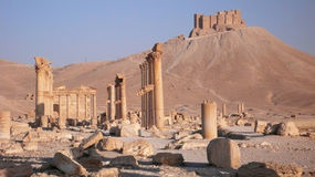 Palmyra. Syria. Ruins of the ancient city of Palmyra in Syria stock image