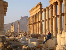 Palmyra, Syrien stockbild