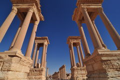 Palmyra towers Stock Images