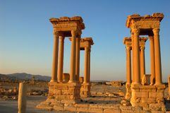Palmyra towers Stock Photo