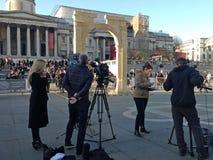 Palmyra łuk Odtwarzający w Londyn Obraz Stock