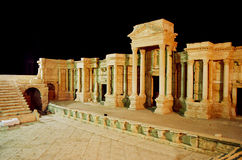 Palmyre antic theatre. Image of antic roman theater in Palmyre, Syria, by night Royalty Free Stock Photo
