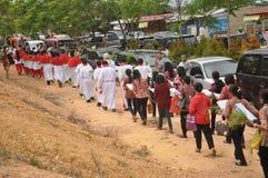 Palmzondag in Batam, Indonesië Royalty-vrije Stock Foto