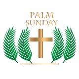 Palmzondag met realstick vector illustratie