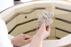 Palnik dla ceramics ostrzału obrazy royalty free