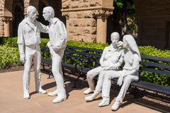 Palo Alto, CA/USA - circa June 2011: Sculptures in Memorial Court of Stanford University Campus in Palo Alto,  California Royalty Free Stock Photo
