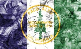 Palo Alto city smoke flag, California State, United States Of Am. Erica Stock Image
