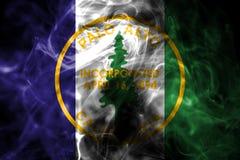 Palo Alto miasta dymu flaga, Kalifornia stan, Stany Zjednoczone Am ilustracja wektor