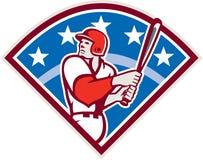 Palo americano Diamond Retro del bateador del talud del béisbol libre illustration
