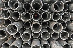 Palo circolare d'acciaio della costruzione Immagine Stock