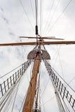 Palo de la nave de la vela Fotografía de archivo