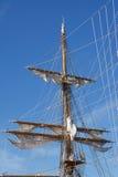 Palo de la nave de la vela Fotos de archivo libres de regalías